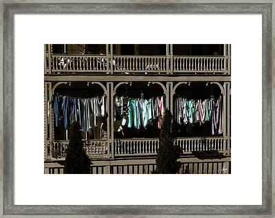 Washday In Bristol Framed Print by Wayne King