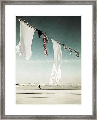 Washday Framed Print by Manuela Deigert