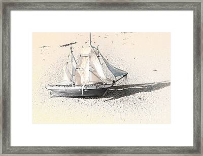 Washed Up Wooden Boat Framed Print by Jorgo Photography - Wall Art Gallery