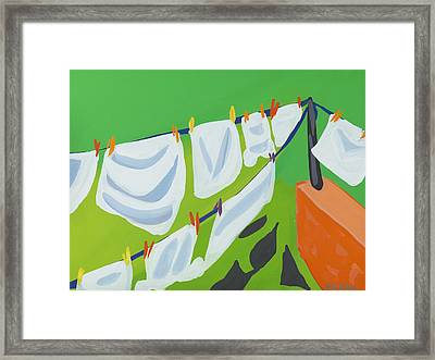 Washing Line Framed Print by Sarah Gillard