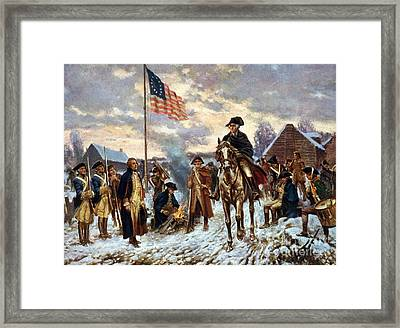 Washington At Valley Forge Framed Print by Unknown