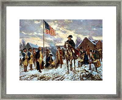 Washington At Valley Forge Framed Print by War Is Hell Store