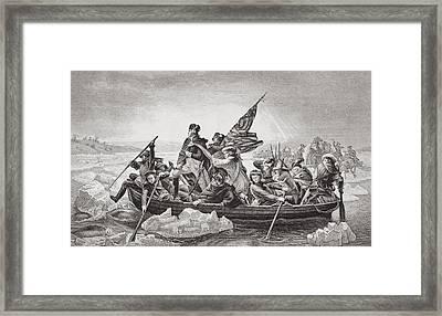 Washington Crossing The Delaware Near Framed Print by Vintage Design Pics