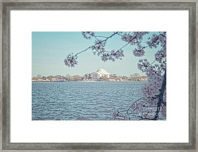 Washington Dc In Spring Framed Print by Emily Kay