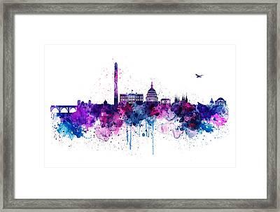 Washington Dc Skyline Framed Print by Marian Voicu
