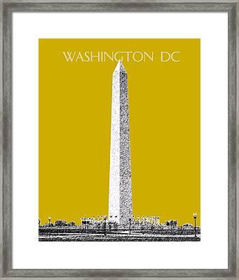 Washington Dc Skyline Washington Monument - Gold Framed Print by DB Artist