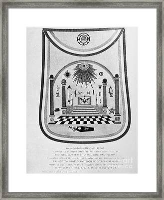 Washington: Masonic Apron Framed Print by Granger
