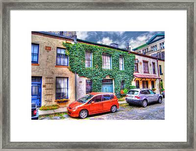 Washington Mews Ivy Framed Print by Randy Aveille