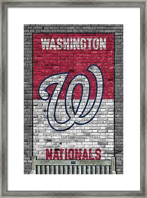 Washington Nationals Brick Wall Framed Print by Joe Hamilton
