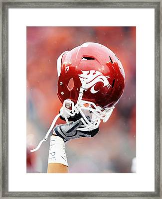 Washington State Helmet  Framed Print by Getty Images