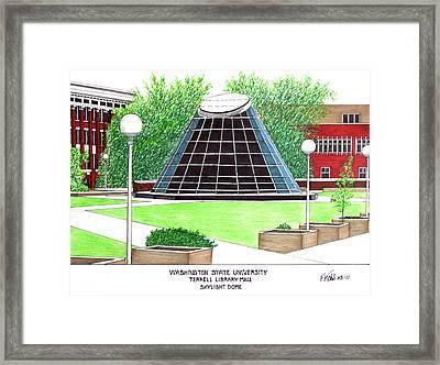 Washington State University Framed Print by Frederic Kohli