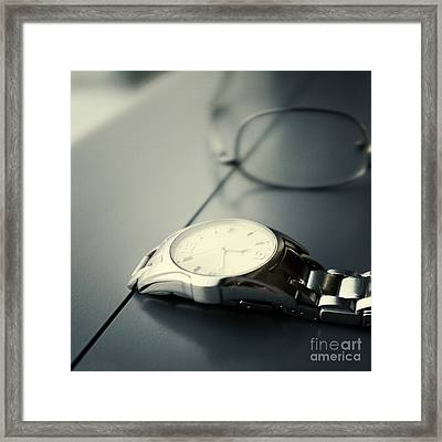 Watch And Spectacle Vintage Framed Print by Ivy Ho