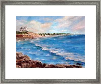 Watch Hill Beach Framed Print by Anne Barberi
