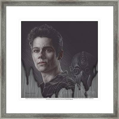 Watch Your Back Stiles Framed Print by Swann Smith
