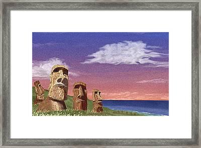 Watchers Framed Print by Gordon Beck