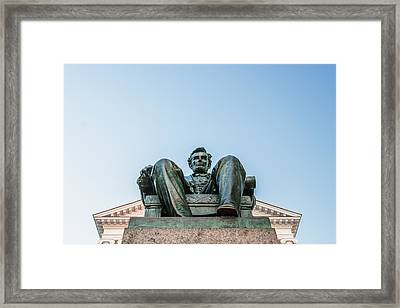 Watchful Abe Framed Print by Todd Klassy