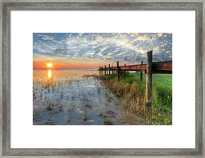 Watching The Sun Rise Framed Print by Debra and Dave Vanderlaan