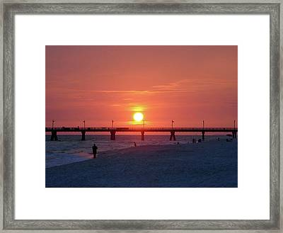 Watching The Sunset Framed Print by Sandy Keeton