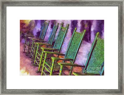 Watching The World Go By Framed Print by Lois Bryan