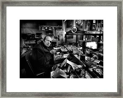 Watchmaker - Mr. Domenico. Framed Print by Antonio Grambone