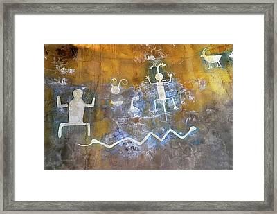 Watchtower Rock Art  Framed Print by Julie Niemela