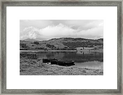 Watendlath Tarn In The Lake District Cumbria Framed Print by Louise Heusinkveld