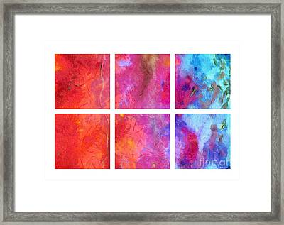 Water And Fire Abstract Framed Print by Edward Fielding