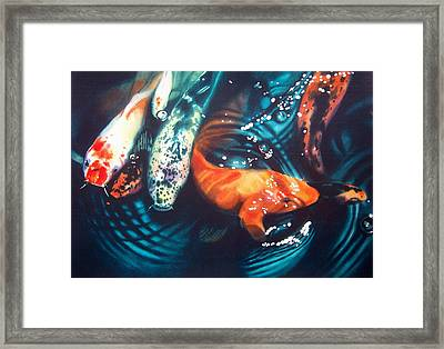 Water Ballet Framed Print by Denny Bond