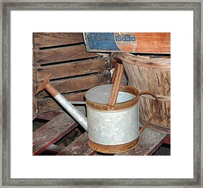 Water Can Framed Print by Dennis Dugan