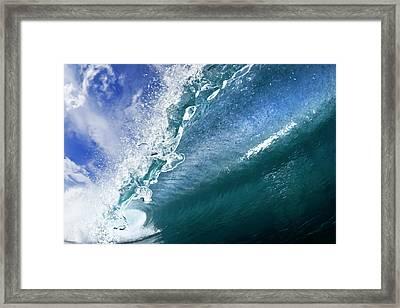 Water Confetti Framed Print by Sean Davey