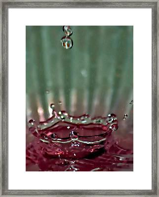 Water Drop Crown Framed Print by Cherie Duran