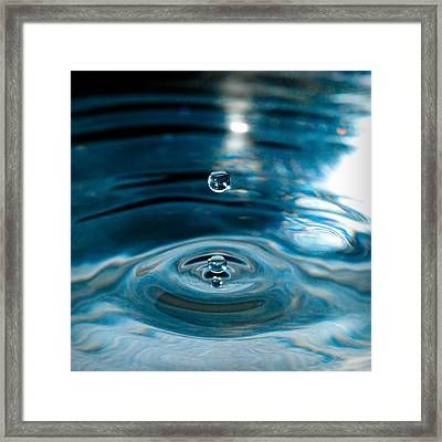 Water Drop In Time Framed Print by Sonja Quintero
