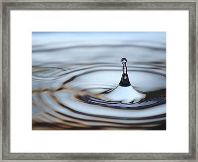 Water Drop Splash Framed Print by Frank Tschakert