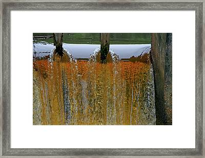 Water Fall At Grismill Pond Framed Print by Danny Jones