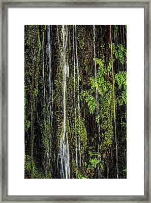 Water Falling Framed Print by Kelley King