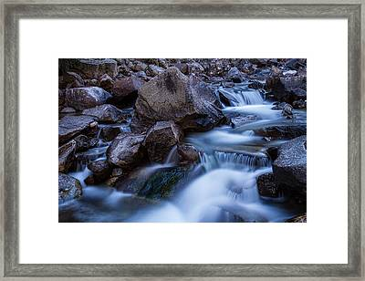 Water Falling On Boulder Creek Framed Print by James BO  Insogna