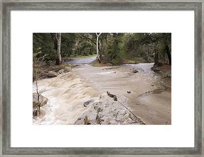 Water Flowing In The North Fork Framed Print by Rich Reid