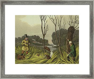 Water Hen Shooting Framed Print by Henry Thomas Alken