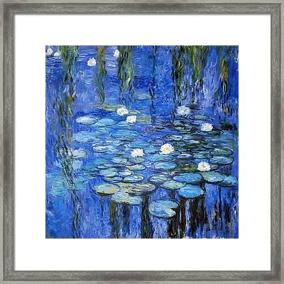 water lilies a la Monet Framed Print by Joachim G Pinkawa