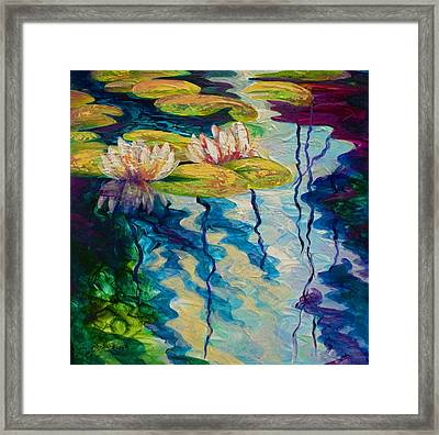 Water Lilies I Framed Print by Marion Rose