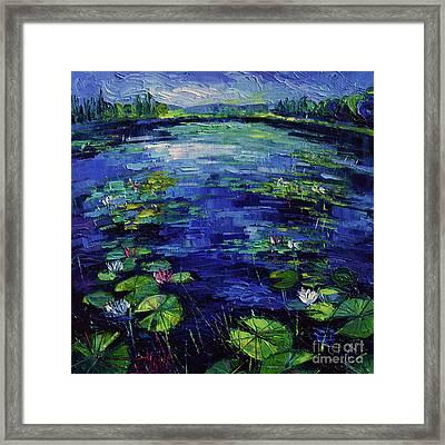 Water Lilies Magic Framed Print by Mona Edulesco