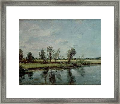 Water Meadows Near Salisbury Framed Print by John Constable
