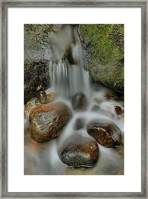 Water Movement Detail Framed Print by Stephen  Vecchiotti