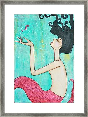 Water Nymph Framed Print by Natalie Briney
