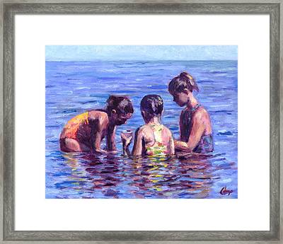 Water Nymphs Framed Print by Michael Camp