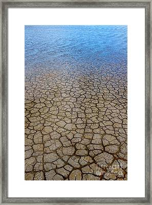 Water Over Drought Framed Print by Carlos Caetano
