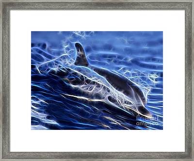 Water Skiing Framed Print by Marvin Blaine