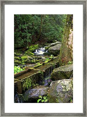 Water Sluice  Framed Print by Marty Koch