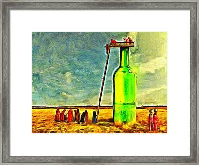 Water Source  - Van Gogh Style -  - Da Framed Print by Leonardo Digenio