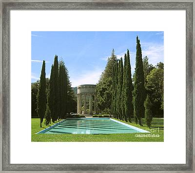 Water Temple And Pool - California Framed Print by Italian Art